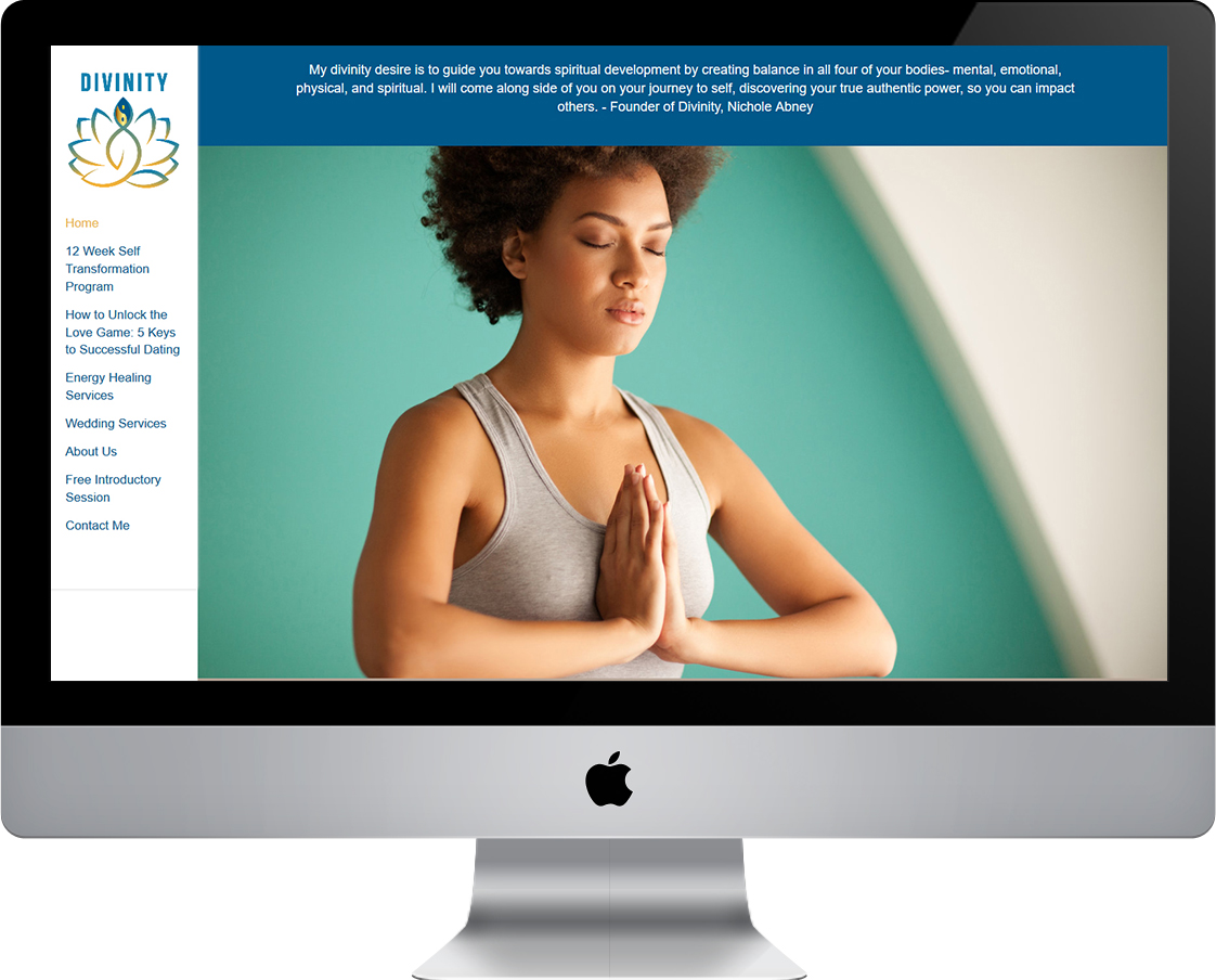 Divinity website for Nichole Abney