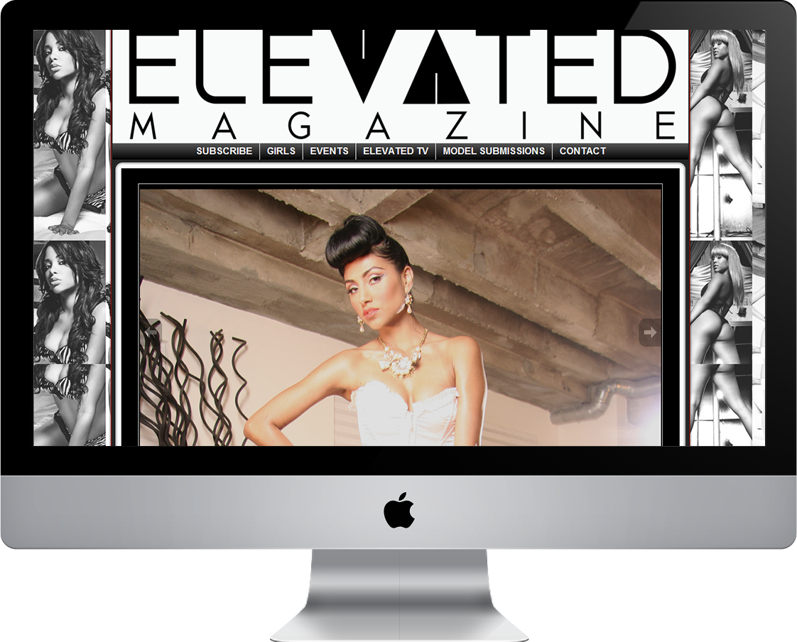 Elevated Magazine web design by Pretty Pages in Aurora, CO