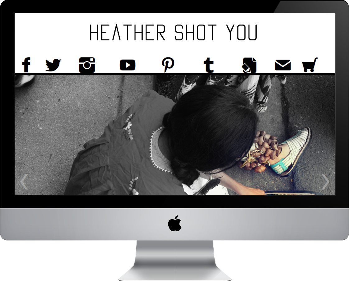 Photographer / Artist Heather Butler web design by Pretty Pages in Aurora, CO