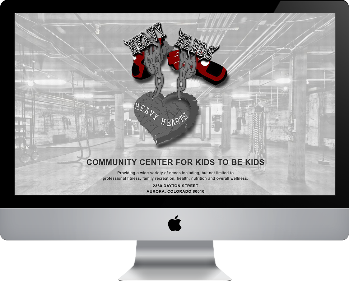 Heavy Hands Heavy Hearts webdesign by Pretty Pages in Aurora, CO