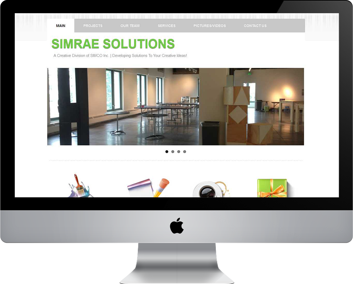 Simrae Solutions web design by Pretty Pages in Aurora, CO